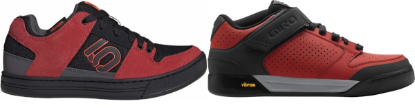 buy red flat cycling shoes for men and women