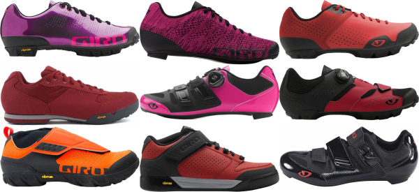 buy red giro cycling shoes for men and women