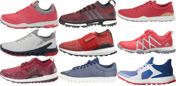 buy red golf shoes for men and women