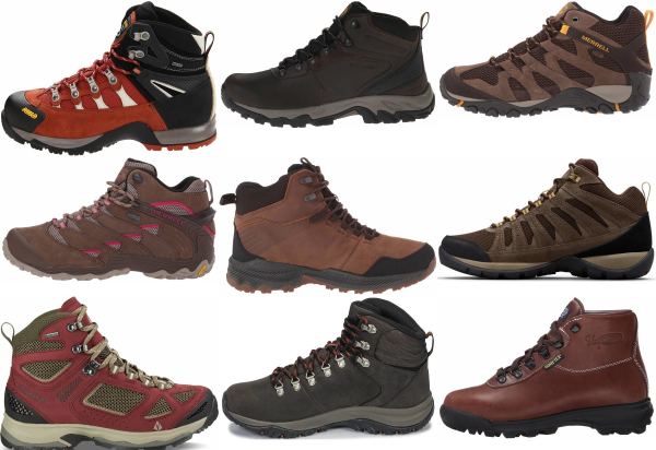 buy red hiking boots for men and women