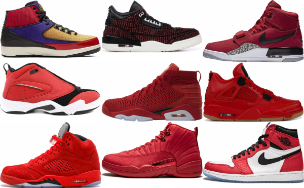 buy red jordan basketball shoes for men and women