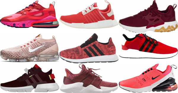buy red knit sneakers for men and women