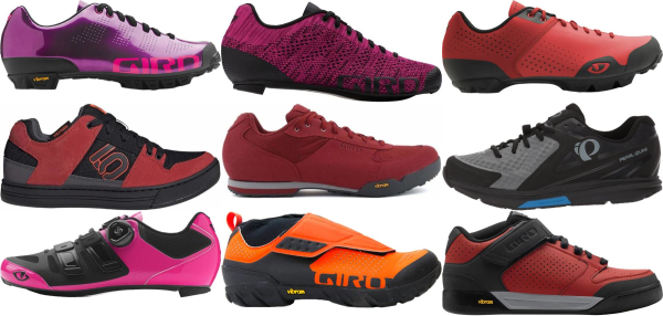 buy red lace cycling shoes for men and women
