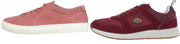 buy red lacoste sneakers for men and women
