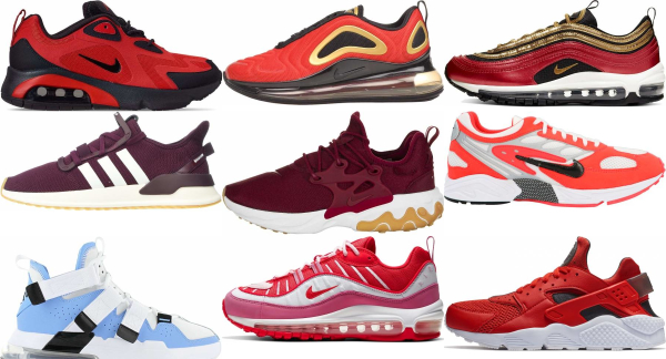 buy red mesh sneakers for men and women