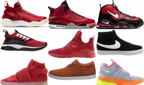 buy red mid top sneakers for men and women