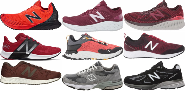 buy red new balance running shoes for men and women