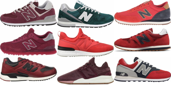 buy red new balance sneakers for men and women