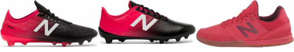 buy red new balance soccer cleats for men and women
