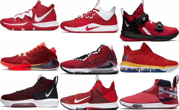 buy red nike basketball shoes for men and women