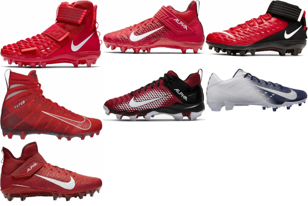 buy red nike football cleats for men and women