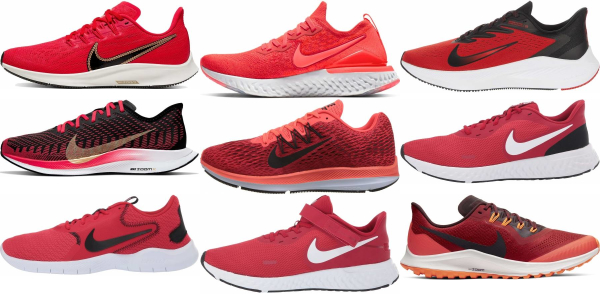 buy red nike running shoes for men and women