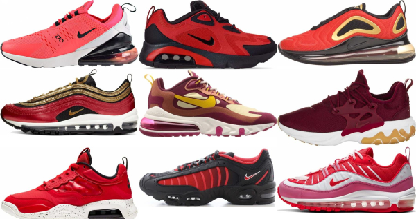 buy red nike sneakers for men and women