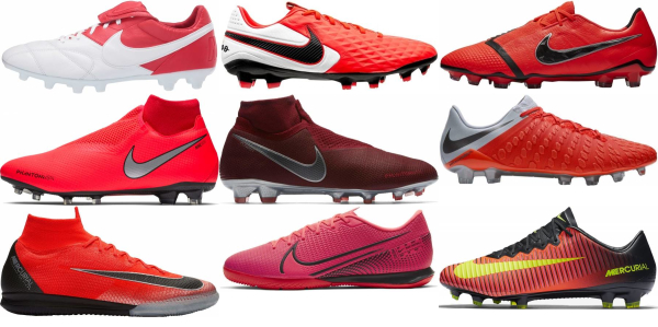 buy red nike soccer cleats for men and women
