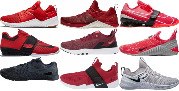 buy red nike training shoes for men and women