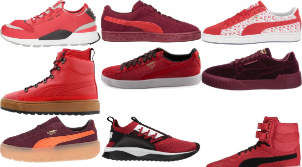 buy red puma sneakers for men and women