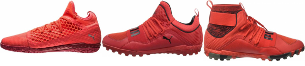 buy red puma soccer cleats for men and women