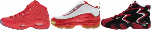 buy red reebok basketball shoes for men and women