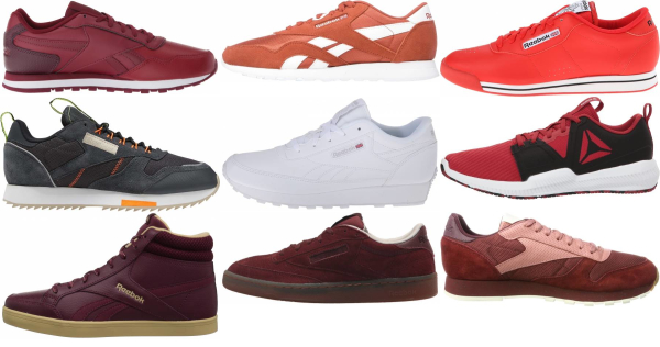 buy red reebok sneakers for men and women