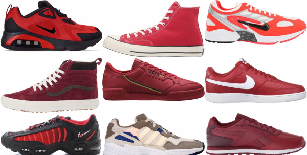 buy red retro sneakers for men and women