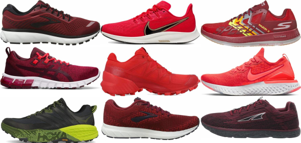 buy red running shoes for men and women