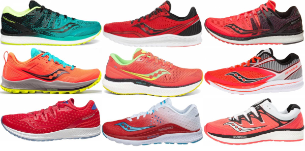 buy red saucony running shoes for men and women