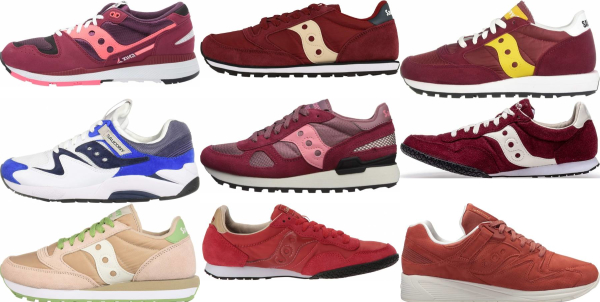buy red saucony sneakers for men and women