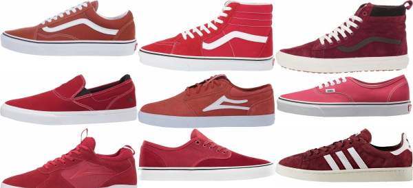 buy red skate sneakers for men and women