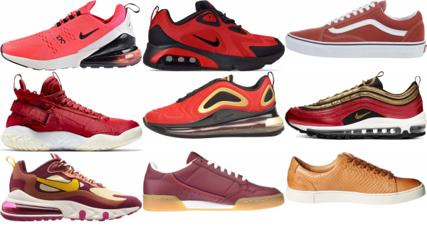 buy red sneakers for men and women
