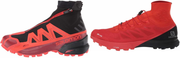 buy red snow running shoes for men and women