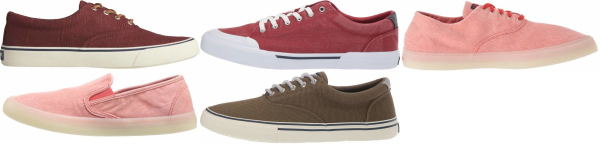 buy red sperry  sneakers for men and women