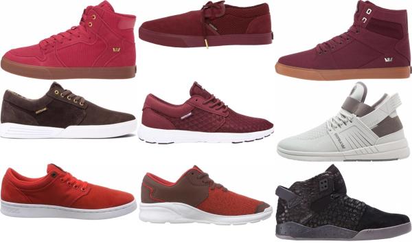 buy red supra sneakers for men and women