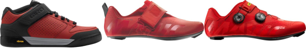 buy red synthetic upper cycling shoes for men and women