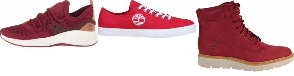 buy red timberland sneakers for men and women