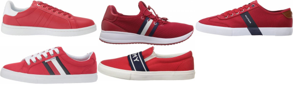 buy red tommy hilfiger sneakers for men and women