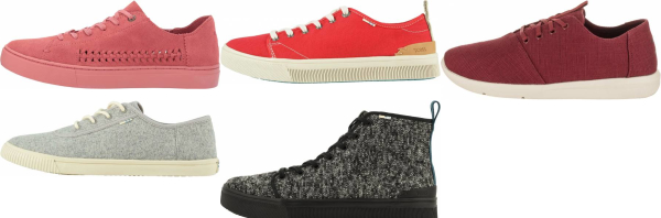 buy red toms sneakers for men and women