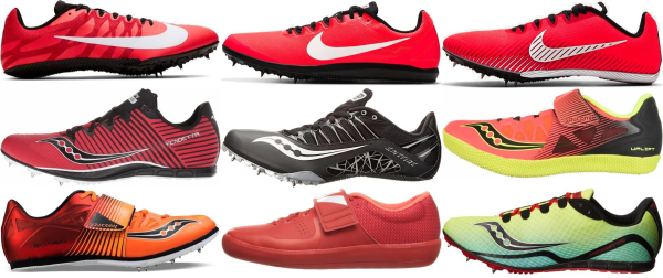 buy red track & field shoes for men and women