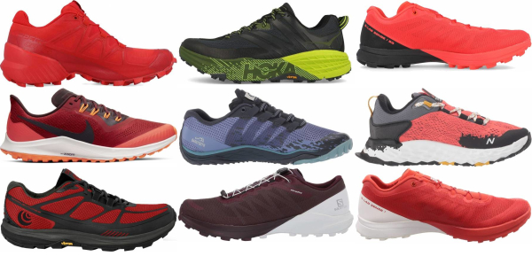 buy red trail running shoes for men and women