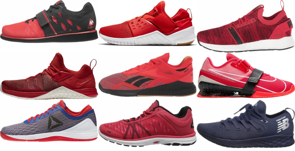 buy red training shoes for men and women
