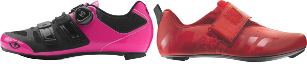 buy red triathlon cycling shoes for men and women