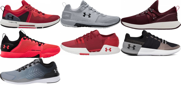 buy red under armour training shoes for men and women