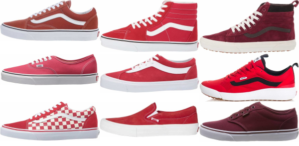 buy red vans sneakers for men and women