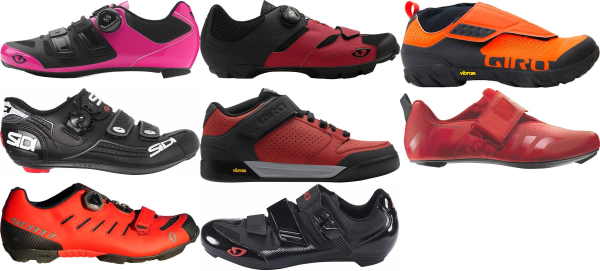 buy red velcro cycling shoes for men and women