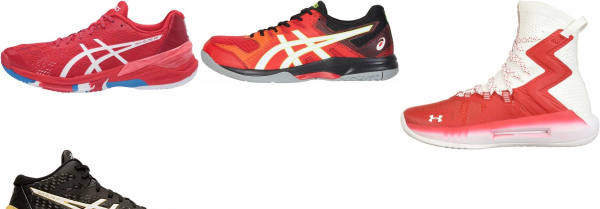 buy red volleyball shoes for men and women