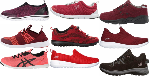 buy red walking shoes for men and women
