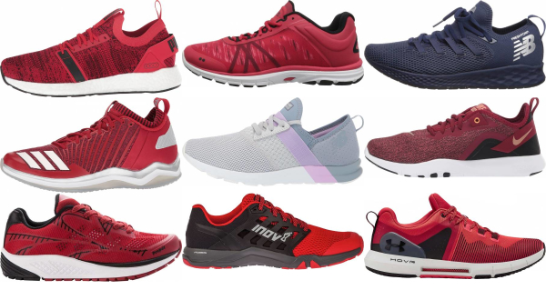 buy red workout shoes for men and women