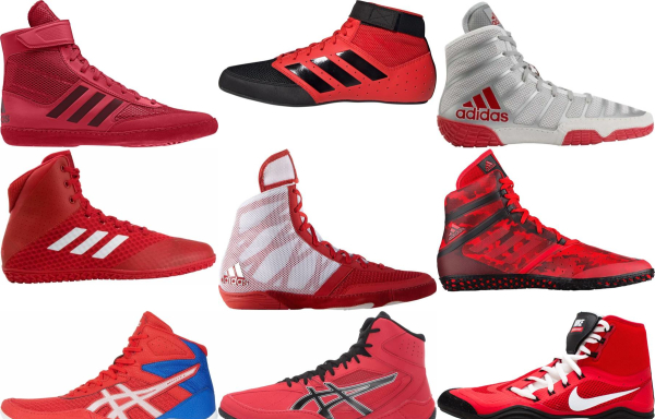 buy red wrestling shoes for men and women