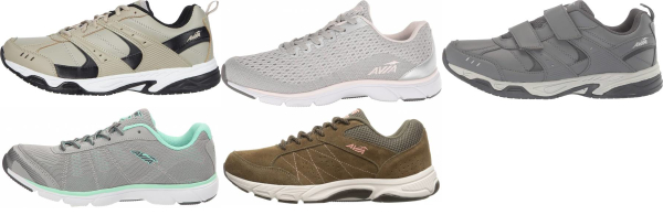 buy removable insole avia walking shoes for men and women