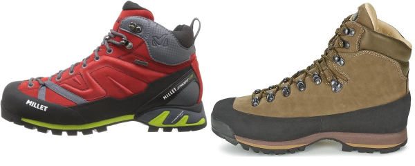 buy rubber sole alpine hiking boots for men and women