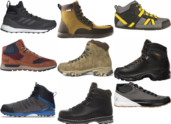 buy rubber sole water repellent hiking boots for men and women